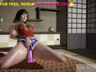 Hentai babe riding on dildo,Wonder woman, hot porn game