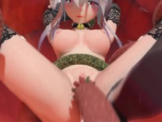 [MMD R-18] Yowane Haku Fucked by Tentacles