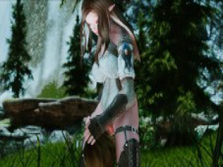 skyrim Elf girl and step uncle porn